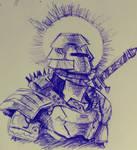 Inktober 2018 Sketch #1: Knight