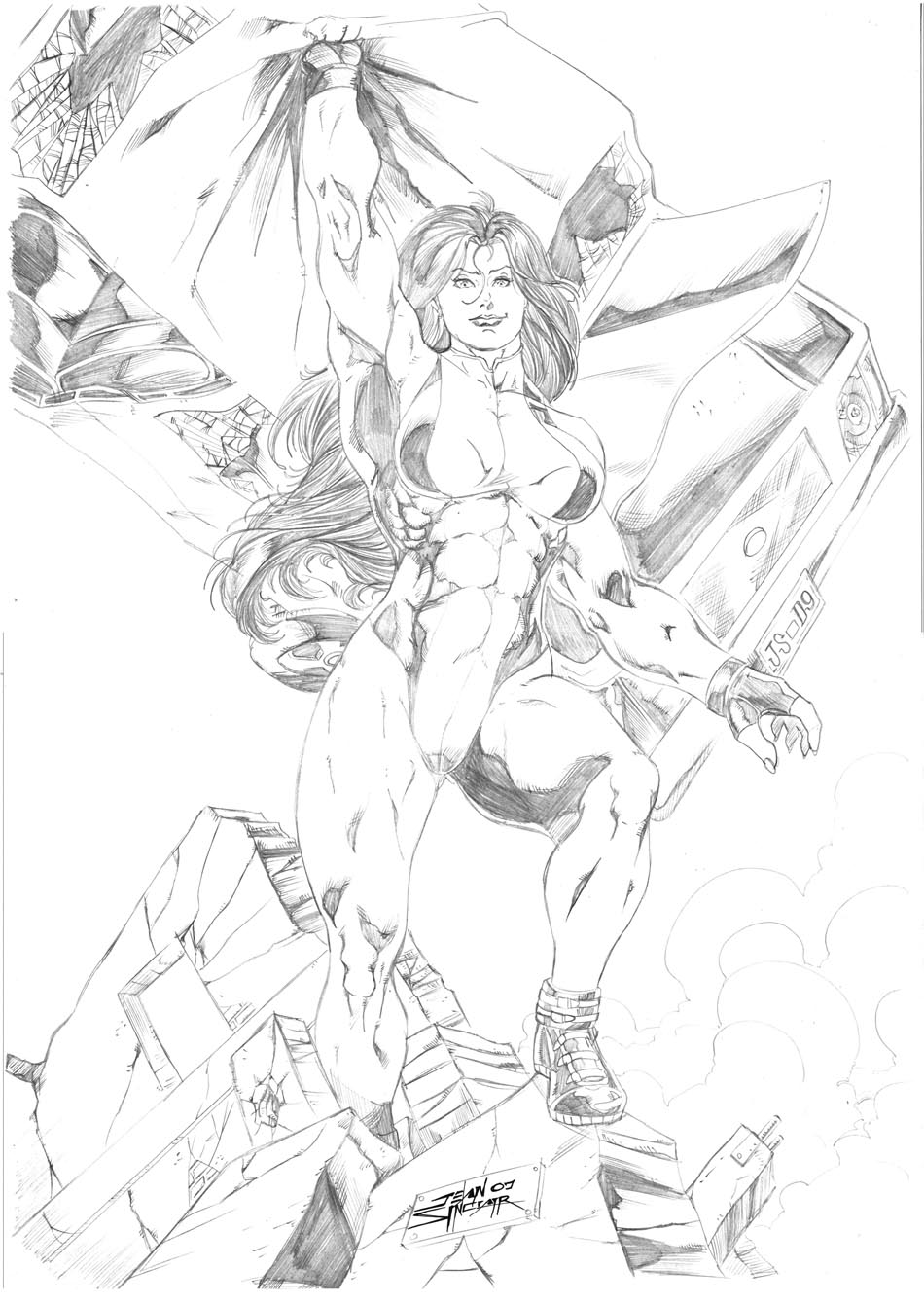 She-Hulk by Jean Sinclair by JeanSinclairArts