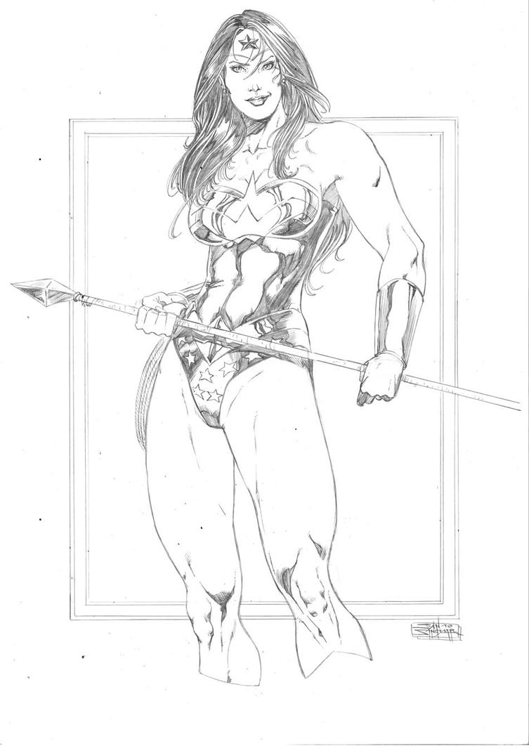 Classic Wonder Woman by JeanSinclairArts