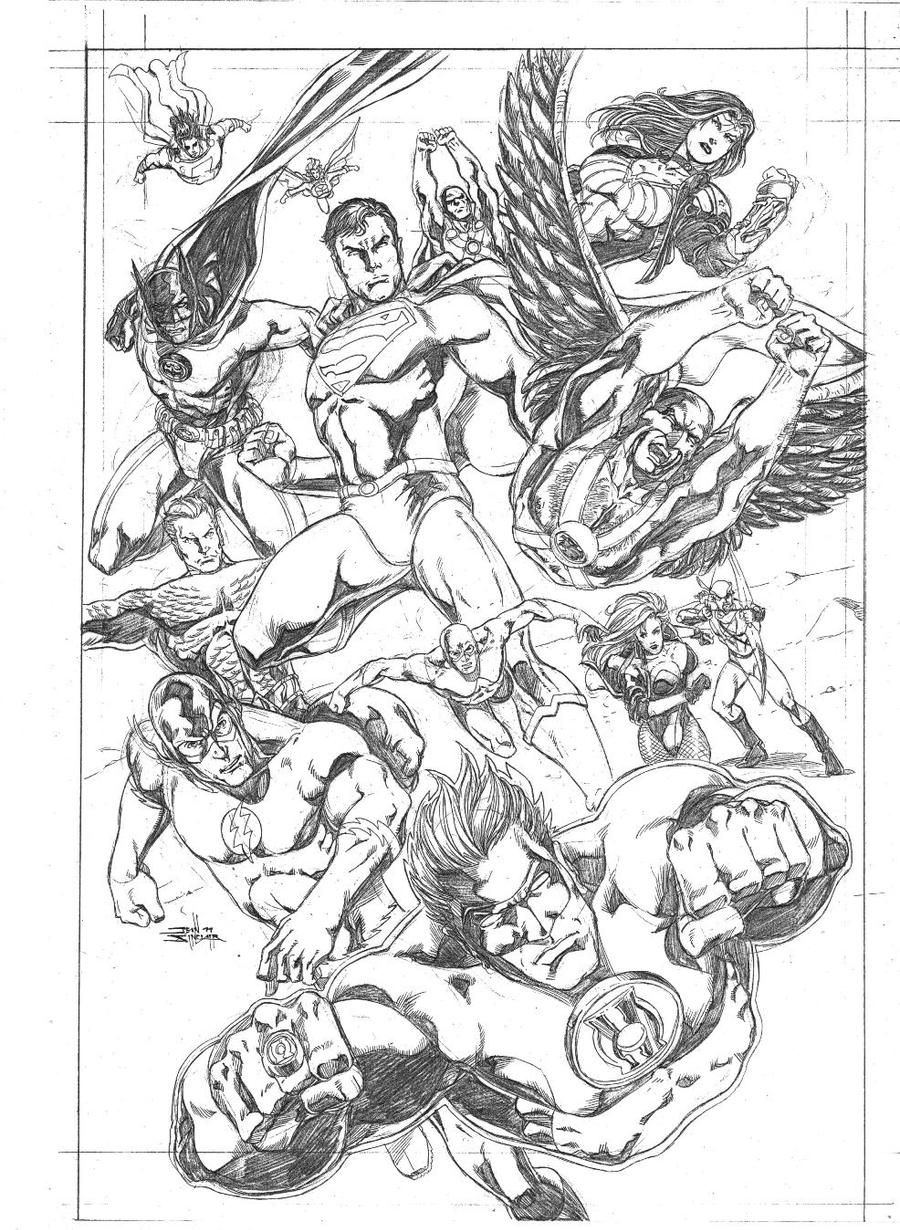 Justice League Of America By JeanSinclairArts