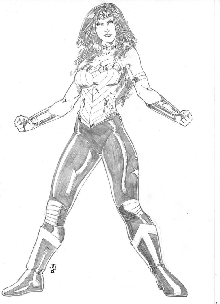 DC New Universe WONDER WOMAN by JeanSinclairArts