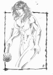 Original She-Hulk by JeanSinclairArts