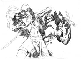 Elektra and Logan by JeanSinclairArts