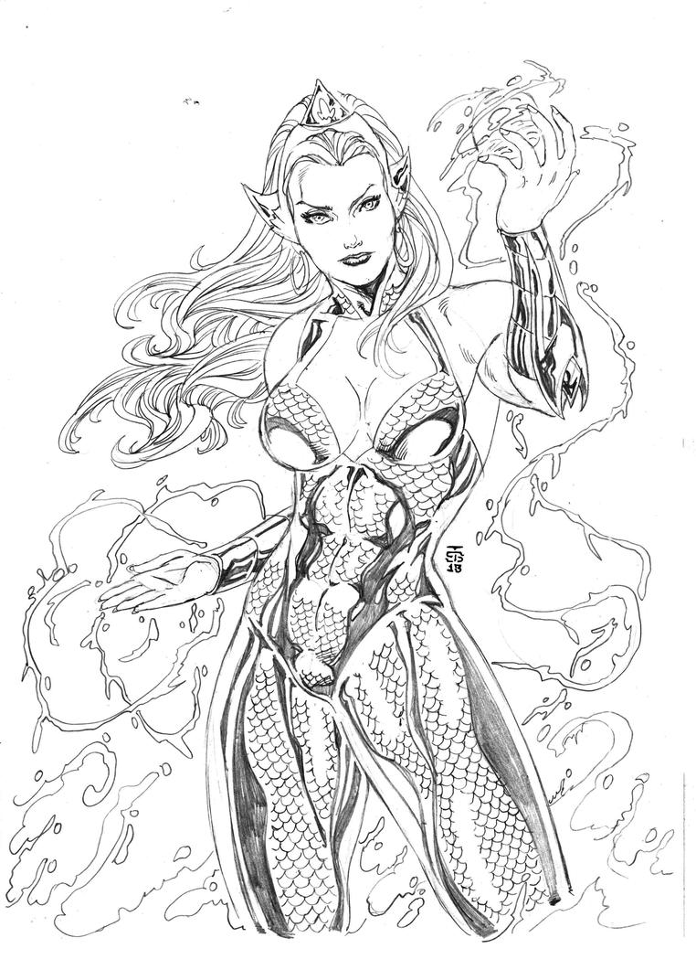 New 52 Mera By JeanSinclairArts On DeviantArt