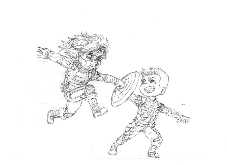 Captain America Winter Soldier Printable Coloring Pages