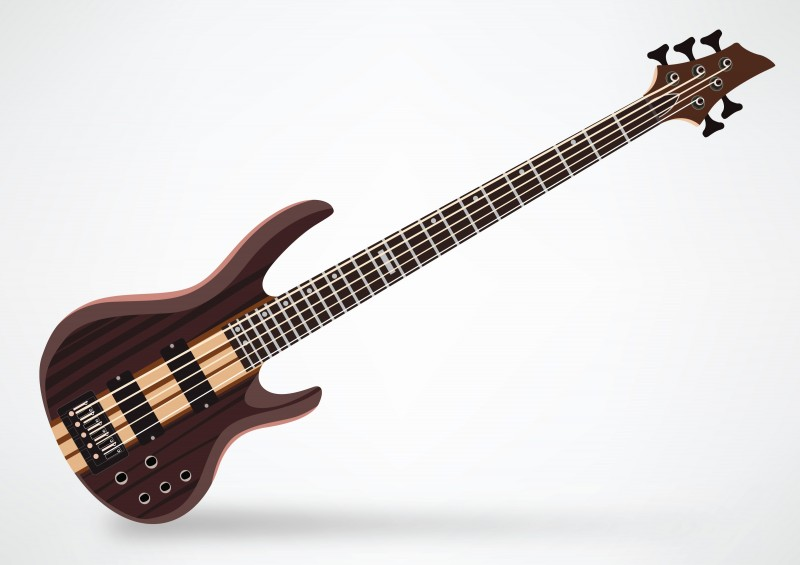 ESP LTD B 5E 5 String Bass Guitar By Superawesomevectors