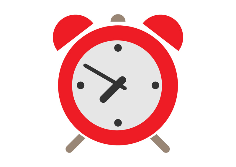 Red Alarm Clock Flat Icon 517933066 on alarm clock wallpaper