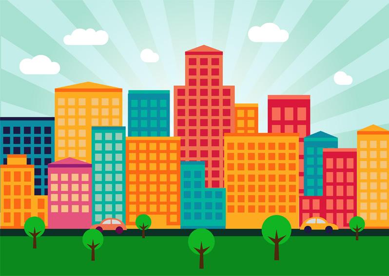 buildings colorful wallpaper - photo #20