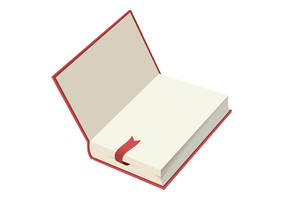 Open Book With Ribbon Marker by superawesomevectors