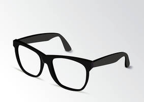 Thick Frame Glasses by superawesomevectors