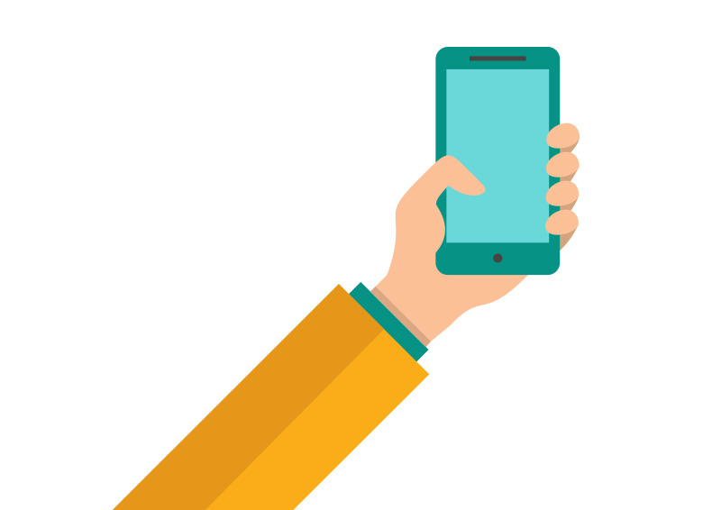 Hand-holding-a-smartphone-flat-vector by ...