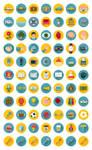 77 Flat Icons Bundle