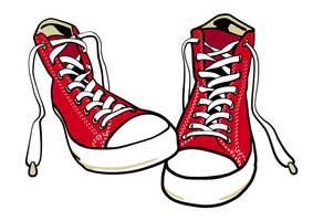 Converse Shoes Free Vector by superawesomevectors
