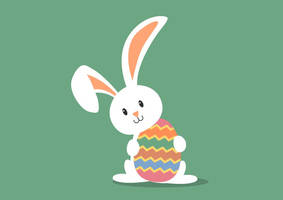 Easter Bunny Free Vector by superawesomevectors