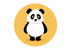 Panda Flat Vector Illustration by superawesomevectors