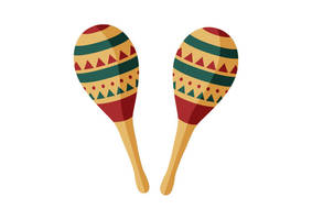Pair Of Maracas Flat Vector by superawesomevectors
