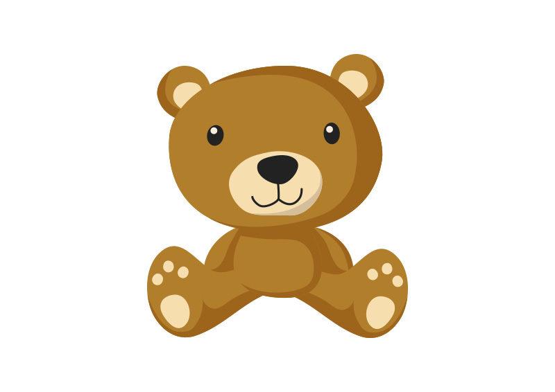 teddy bear flat vector by superawesomevectors on deviantart
