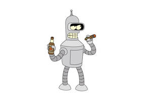 Futurama Bender Vector Character by superawesomevectors