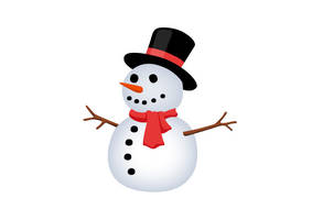 Snowman Free Vector Illustration by superawesomevectors