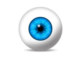 Eyeball With Blue Iris by superawesomevectors