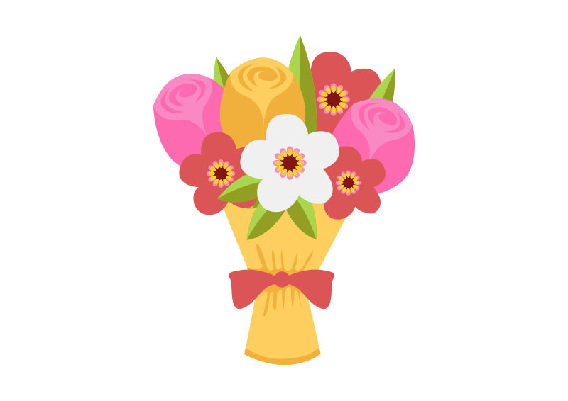 Bouquet Of Flowers Free Flat Vector by superawesomevectors on DeviantArt