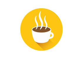 Flat Coffee Cup Icon by superawesomevectors