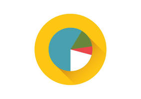 Pie Chart Flat Vector Icon by superawesomevectors