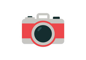 Camera Flat Style Vector Icon by superawesomevectors