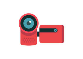 Video Camera Flat Vector Icon by superawesomevectors