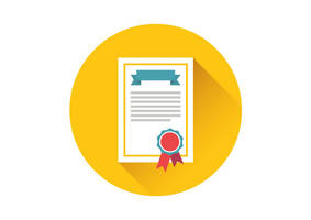 Certificate Flat Vector Icon by superawesomevectors