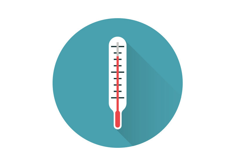 Thermometer Free Flat Vector Icon by superawesomevectors