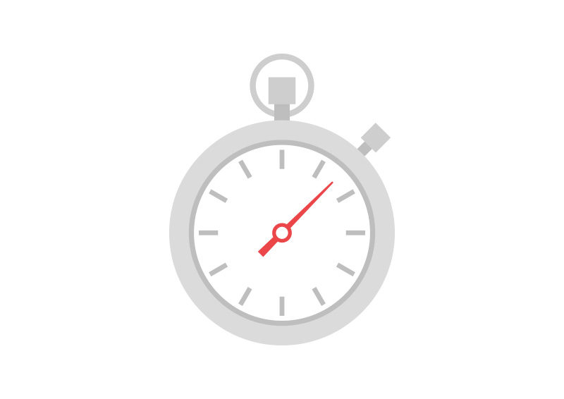 Stopwatch Free Flat Vector Icon by superawesomevectors