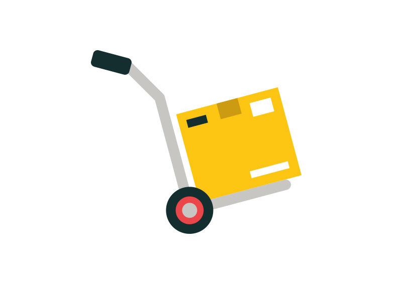 Hand Truck Flat Vector Icon by superawesomevectors