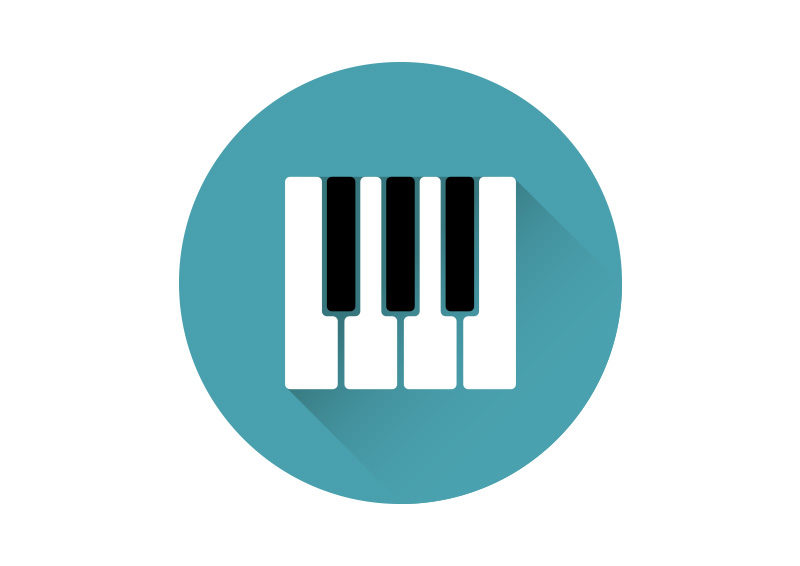 Piano Keys Flat Vector Icon By Superawesomevectors