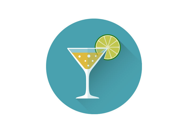 Drink Flat Style Vector Icon by superawesomevectors