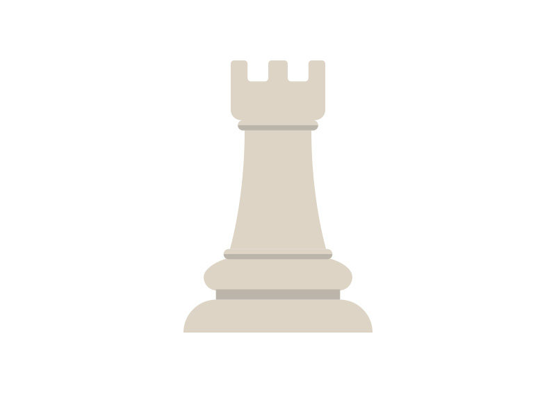 Chess Tower Flat Vector Icon by superawesomevectors
