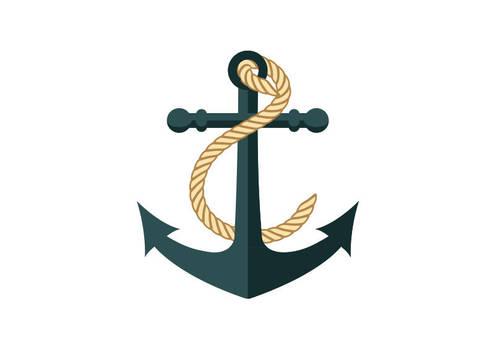 Anchor Flat Vector