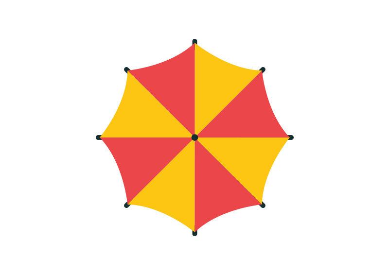 Umbrella-flat-vector-800x566 by superawesomevectors