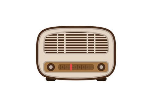 Retro Radio Flat Style Vector