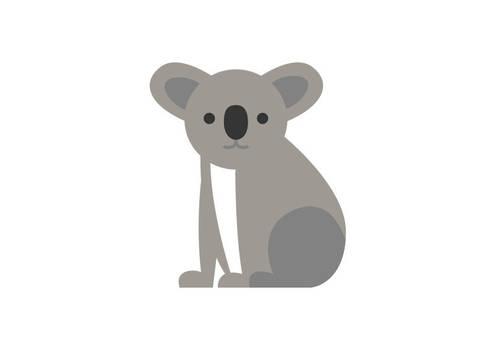 Koala Bear Flat Style Vector