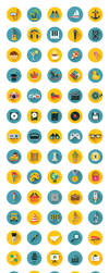 110 Flat Icons Bundle by superawesomevectors