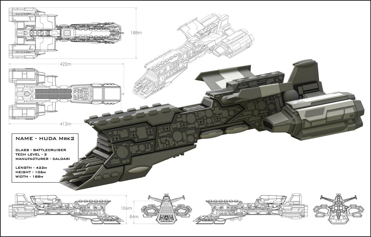 HUDA Battleship by StephenHuda