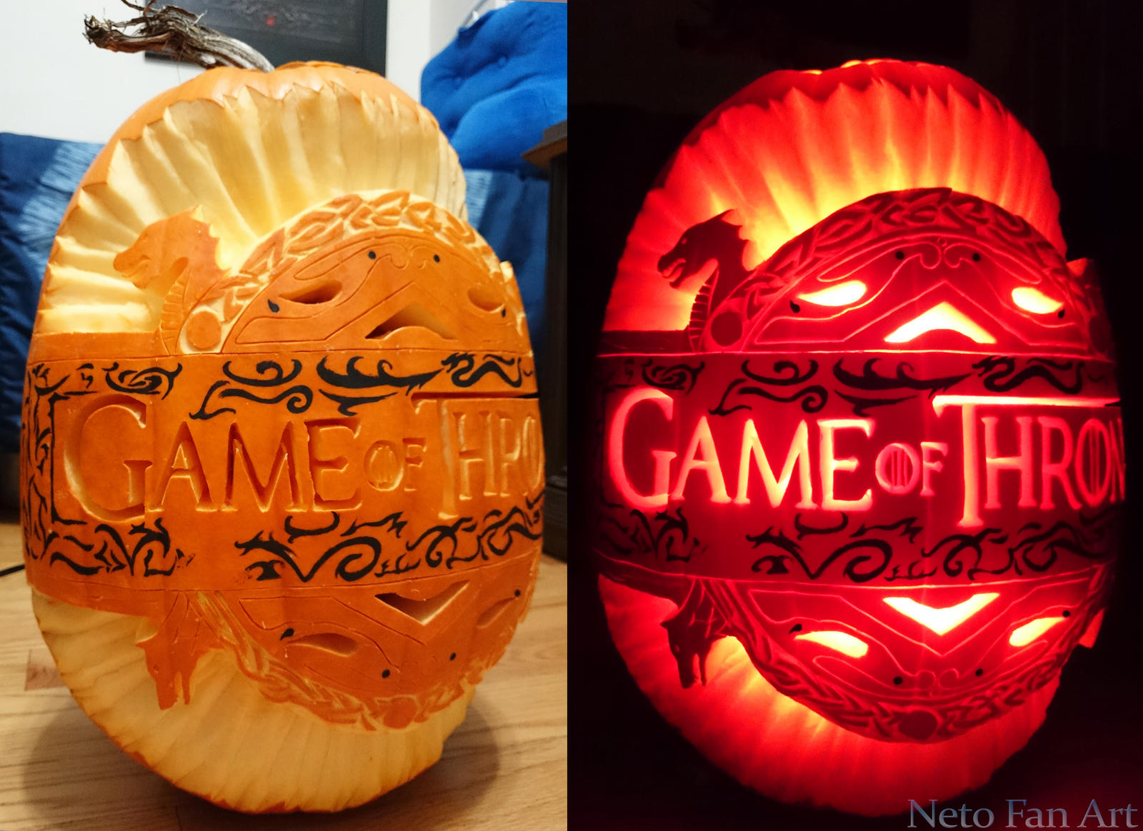 Game of thrones pumpkin by netofanart on deviantart