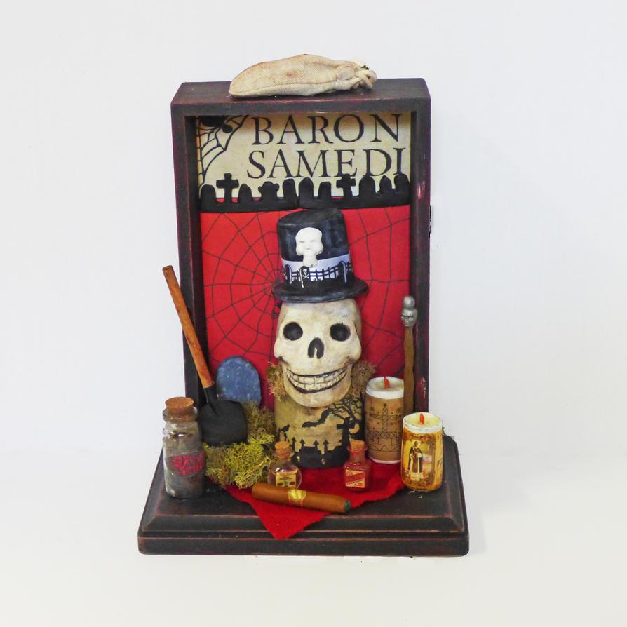 Baron Samedi Shadow Box by NacreousAlchemy