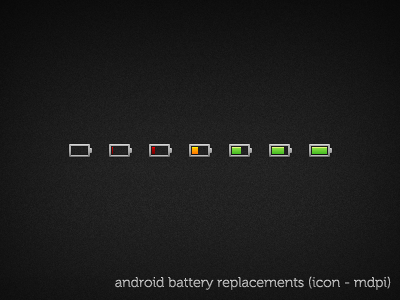 battery icons by reallyrocks