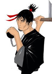 Kuzarigama warrior colored by beto