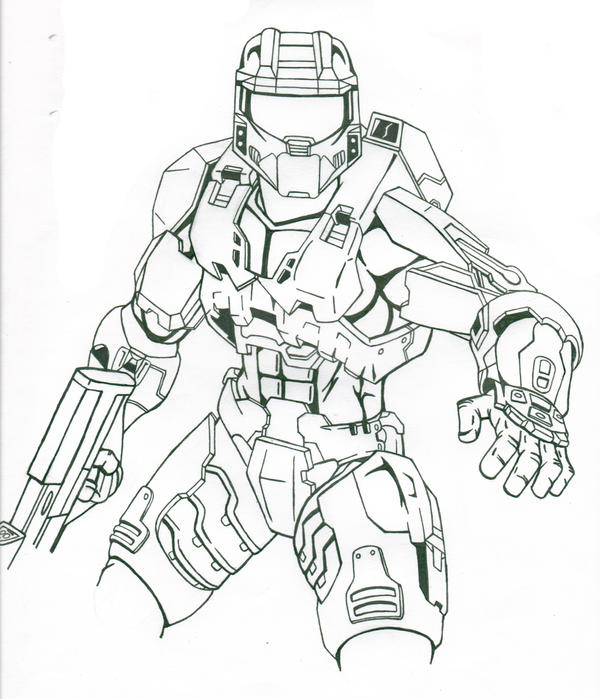 Halo master chief by chargedgraphite on deviantart for Halo master chief coloring pages