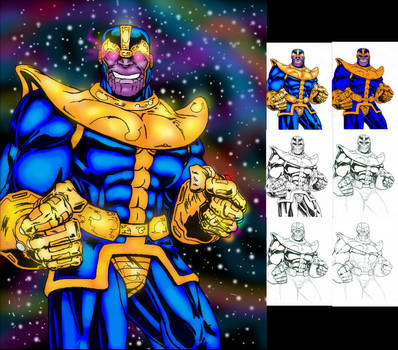 Thanos Progression by ChargedGraphite