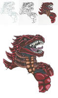 Zipper Suit Monster - anthology monster by ChargedGraphite