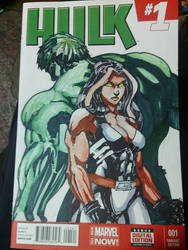 Hulk Orginal art sketch cover. 7 day auction by physicdesigns